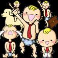 LINEスタンプランキング(StampDB) | ベビリーマンのビジネス会話(幼児語版)