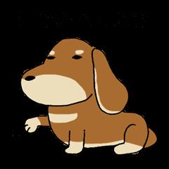 Dog sticker [Dachshund]