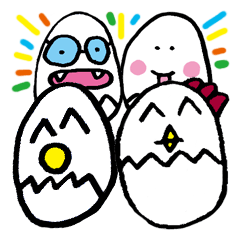Funny Egg Characters