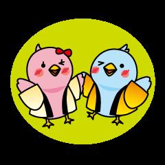LINEスタンプランキング(StampDB) | 青い鳥はっぴぃとぴんくちゃん