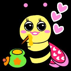 可愛的蜜蜂