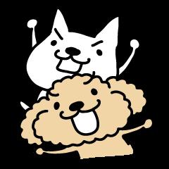 LINEスタンプランキング(StampDB) | 白い犬とトイプー