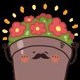 LINEスタンプランキング(StampDB) | 植木鉢おじさま