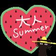 LINEスタンプランキング(StampDB) | 夏の大人かわいいシュールな黒ネコ★
