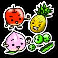 LINEスタンプランキング(StampDB) | 果物さんとお野菜さんのシールスタンプ