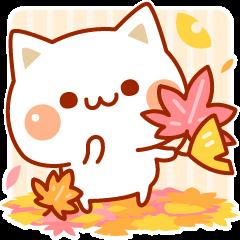 LINEスタンプランキング(StampDB) | 秋も気づかいのできるネコ♪