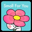 "LINEスタンプランキング(StampDB) | あまえんぼうさちゃん  ""Small For You"""