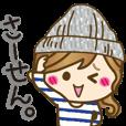 LINEスタンプランキング(StampDB) | ゆるカジ女子?1【ゆる語&敬語】
