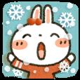 LINEスタンプランキング(StampDB) | 女子力UP!白うさぎさんEnjoy冬パック