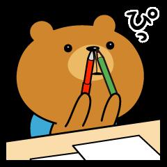 LINEスタンプランキング(StampDB) | オレさまクマさん、勉強する。