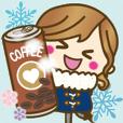 LINEスタンプランキング(StampDB) | 【冬&あけおめ?】ゆるカワ彼女