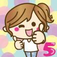 LINEスタンプランキング(StampDB) | ゆるカジ女子?5【らぶりーモード?】