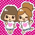 LINEスタンプランキング(StampDB) | ●可愛い女子詰め合わせ●