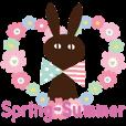 LINEスタンプランキング(StampDB) | 【春夏敬語】北欧ナチュラルうさぎ
