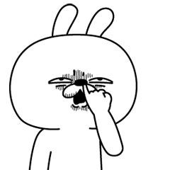 LINEスタンプランキング(StampDB) | 激しく動く!顔芸うさぎ