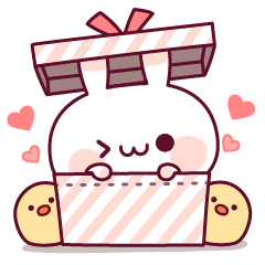 LINEスタンプランキング(StampDB) | うごく♪ウサピヨのアニメーション