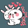 LINEスタンプランキング(StampDB) | らぶらぶウサギ8