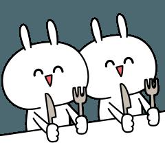 LINEスタンプランキング(StampDB) | うごく!にっこりウサギ