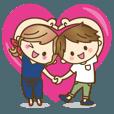 LINEスタンプランキング(StampDB) | 【動く?】ゆるカップルのLOVE×LOVEな日常