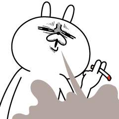 LINEスタンプランキング(StampDB) | 激しく動く!顔芸うさぎ3