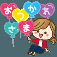 LINEスタンプランキング(StampDB) | 【動く?】毎日つかえる言葉?ゆるカジ女子