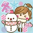 LINEスタンプランキング(StampDB) | 【冬に使える?】ゆるカワ彼女?