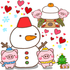 LINEスタンプランキング(StampDB) | ぶたさんの冬