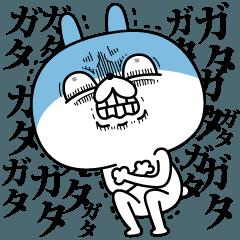 LINEスタンプランキング(StampDB) | 顔芸うさぎ 冬ver