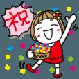 LINEスタンプランキング(StampDB) | ??動く!はな子27。正月とか誕生日とか。