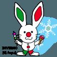 LINEスタンプランキング(StampDB) | 伊日amo?ウサギがつなぐイタリア日本 (冬)