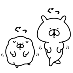 LINEスタンプランキング(StampDB) | ゆるうさぎ&もふ犬?ゆる敬語編?
