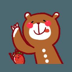 甘いもの好きなクマさんスタンプ