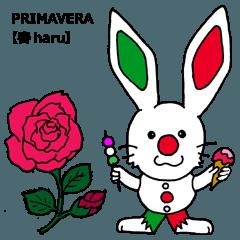 LINEスタンプランキング(StampDB) | 伊日amo?ウサギがつなぐイタリア日本 (春)