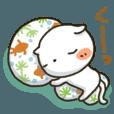 LINEスタンプランキング(StampDB) | しろねこ真夏&秋パック(改訂版)