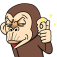 LINEスタンプランキング(StampDB) | イラッと動く★お猿さん3