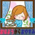 LINEスタンプランキング(StampDB) | 大人女子の1日〜おはようからおやすみまで