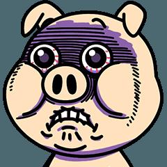 LINEスタンプランキング(StampDB) | イラッと動く★ブタさん