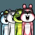 LINEスタンプランキング(StampDB) | 目が笑ってない着ぐるみたち 5