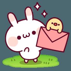 LINEスタンプランキング(StampDB) | ウサピヨ 連絡のことば