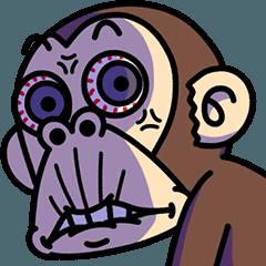 LINEスタンプランキング(StampDB) | イラッとする★お猿さん4
