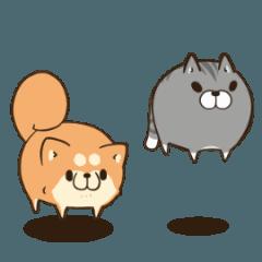 LINEスタンプランキング(StampDB) | ボンレス犬とボンレス猫 む?ぶ
