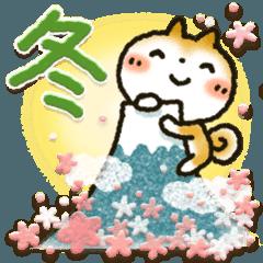 LINEスタンプランキング(StampDB) | 柴犬「まるちゃん」活躍の戌年!!