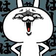LINEスタンプランキング(StampDB) | 激しく動く!顔芸うさぎ7 笑顔ver