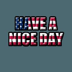 アメリカ国旗柄の英語ワード