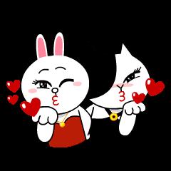 コニー&ジェシカ ガールズ... | StampDB - LINEスタンプランキング