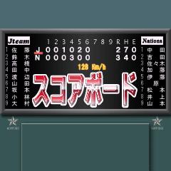 野球のスコアボード 2
