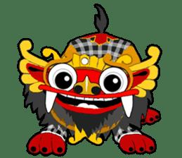Balinese Barong sticker #140556