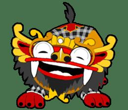 Balinese Barong sticker #140557