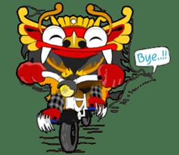 Balinese Barong sticker #140563