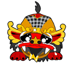 Balinese Barong sticker #140566